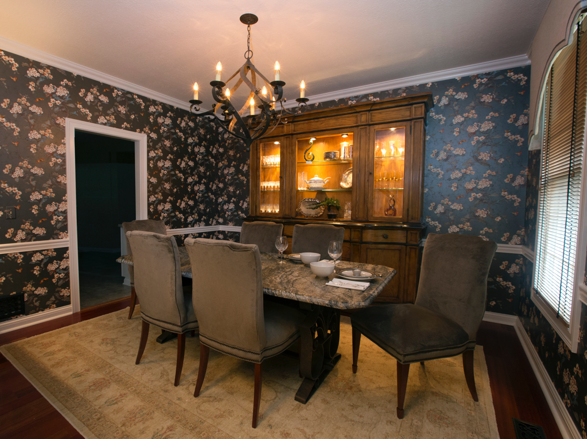 Traditional Dining Room From A Different View